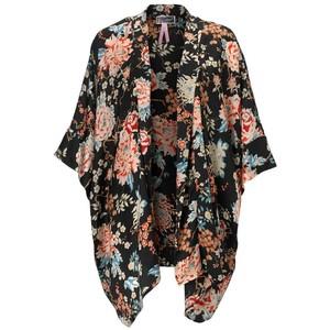 Black Floral Kimono Pictures