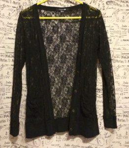 Black Lace Cardigan Jacket