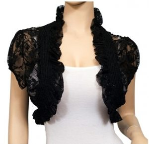 Black Lace Shrug Bolero