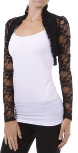 Black Lace Shrug Long Sleeve