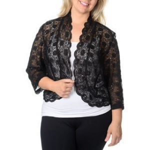 Black Lace Shrug Plus Size