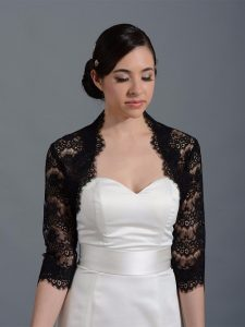 Black Lace Shrug for Dresses
