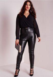 Black Leather Leggings Plus Size