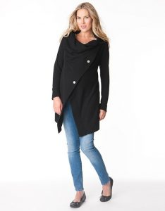 Black Maternity Cardigan