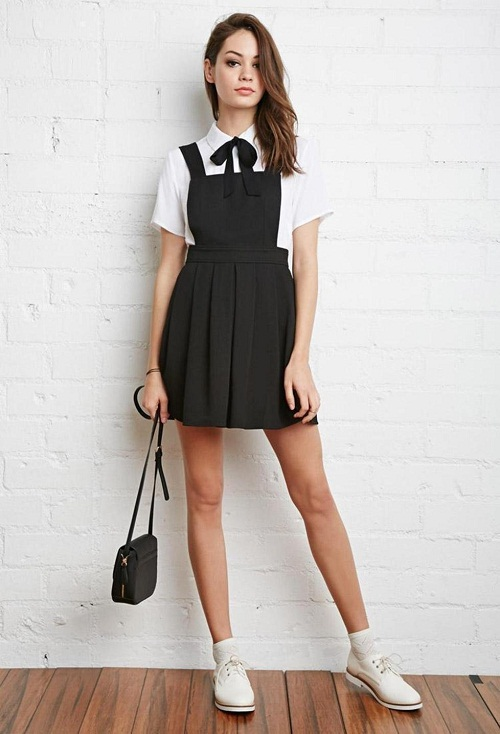 Black Overall Dress Wardrobe Mag