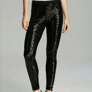 Black Sequin Leggings Images