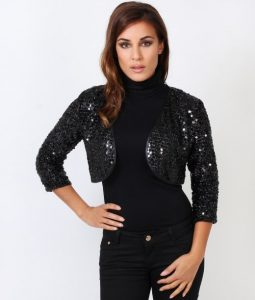 Black Sequin Shrug