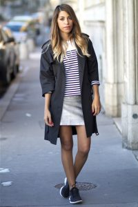 Black Trench Coat Women Outfit