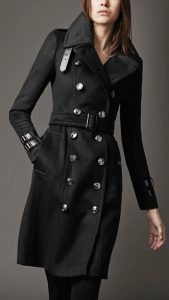 Black Trench Coat for Women