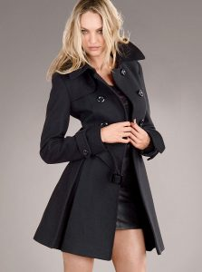 Black Wool Trench Coat Women