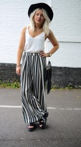 Black and White Palazzo Pants Outfit