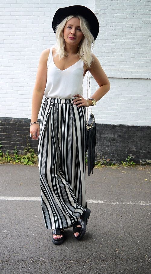 Black and White Palazzo Pants | Wardrobe Mag
