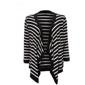 Black and White Striped Cardigan Pictures