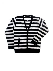 Black and White Striped Cardigans
