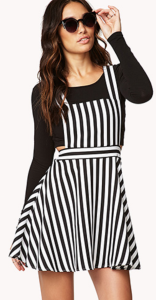 Black and White Striped Overalls