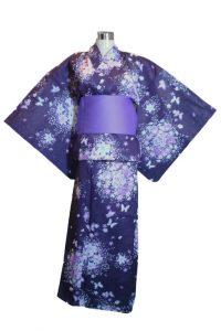 Dark Purple Kimono