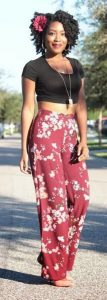 Floral Palazzo Pants Outfit