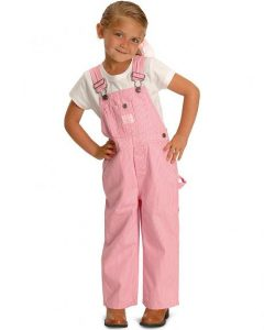 Girls Pink Overalls