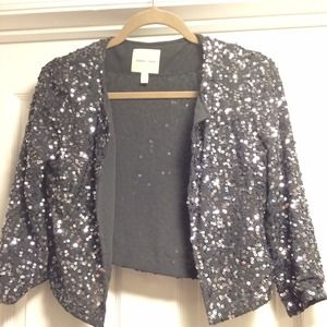 Grey Sequin Shrug