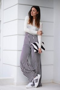 Images of Black and White Palazzo Pants