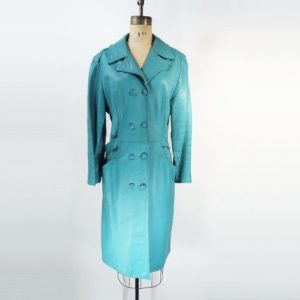 Images of Turquoise Trench Coat
