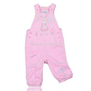 Kids Pink Overalls