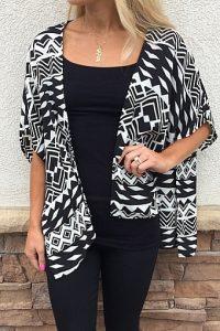 Kimono Black and White