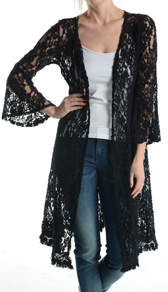 Black Lace Cardigan | Wardrobe Mag