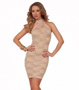 Lace Halter Top Dress