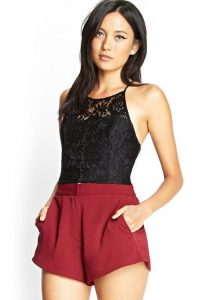 Lace Halter Top Images