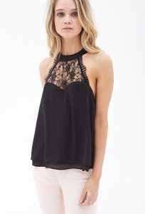 Lace Halter Tops