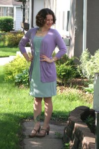 Lavender Cardigan Outfit
