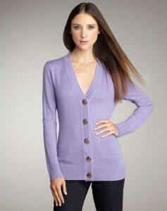 Lavender Cardigan Women's
