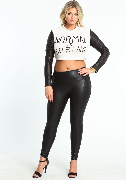 Leather Leggings Plus Size - The Else