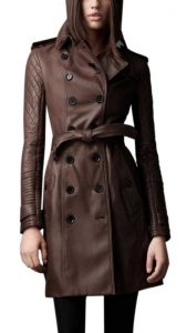Leather Trench Coat Women