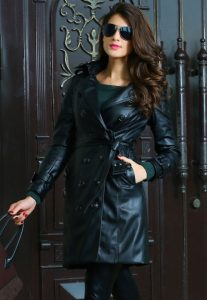 Leather Trench Coat for Women