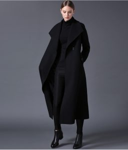 Long Black Trench Coat Women