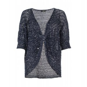 Navy Sequin Shrug
