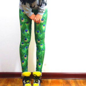 Peacock Leggings Yoga