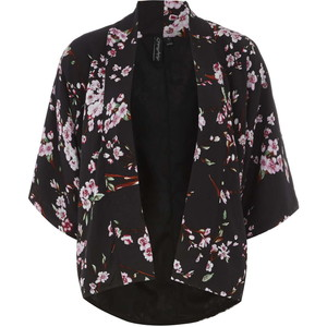 Pictures of Black Floral Kimono
