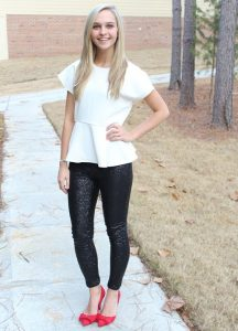 Pictures of Black Sequin Leggings
