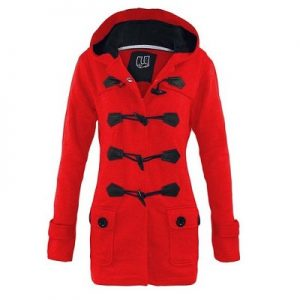 Pictures of Red Trench Coat with Hood
