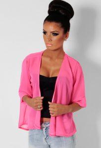 Pink Kimono Jacket
