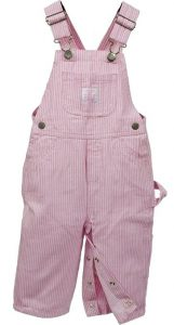 Pink Striped Overalls