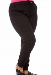 Plus Size Black Joggers