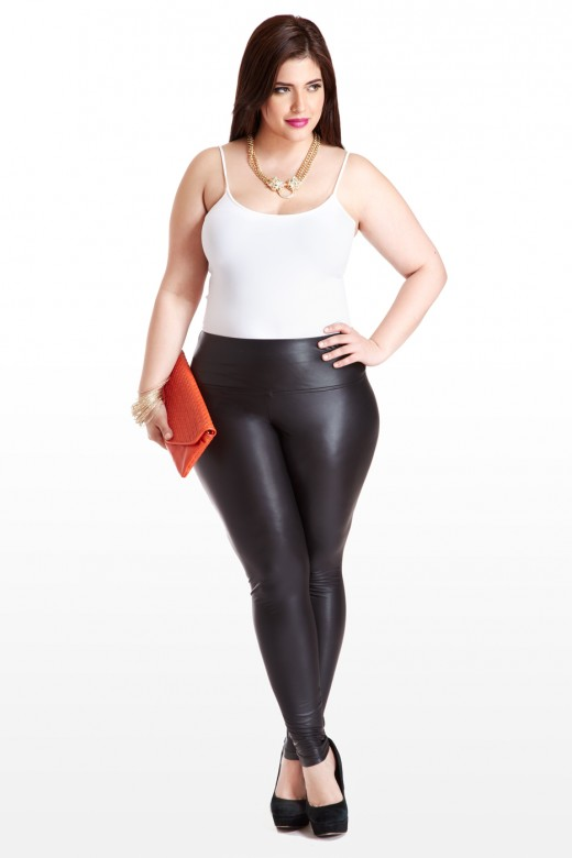 plus size leather leggings | wardrobe mag