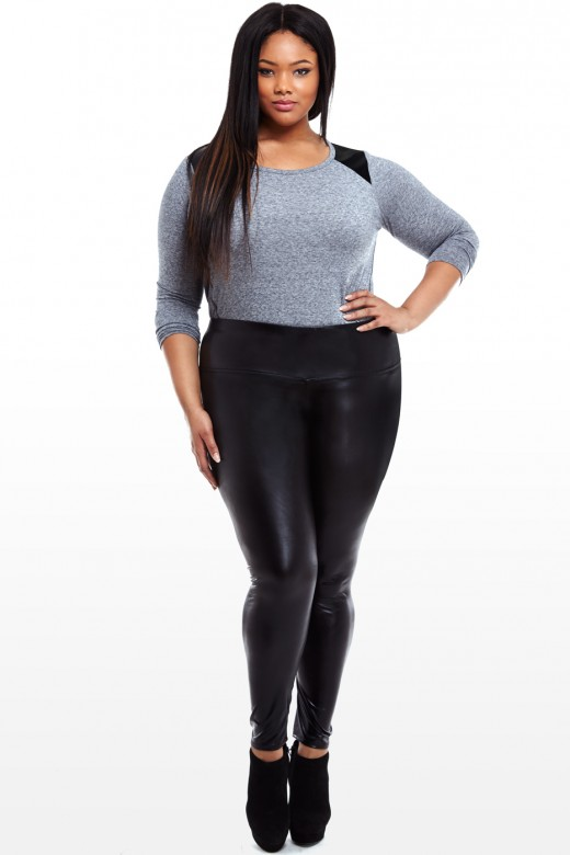 Collection Plus Size Leather Leggings Pictures - Reikian