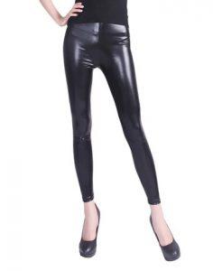 Plus Size Liquid Leather Leggings