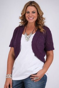 Plus Size Purple Shrug