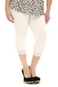 Plus Size White Capri Leggings